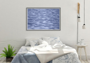 Bedroom-with-light-blue-water-shapes
